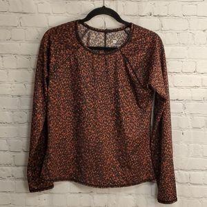 Leopard Print Swim Top XL #S014
